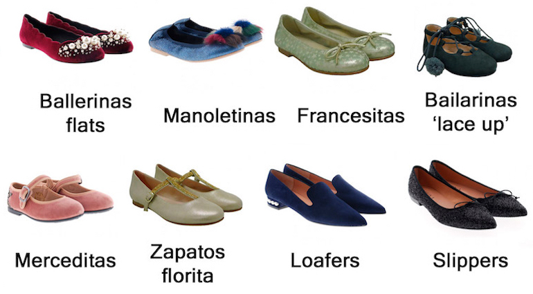 Vocabulario de zapatos
