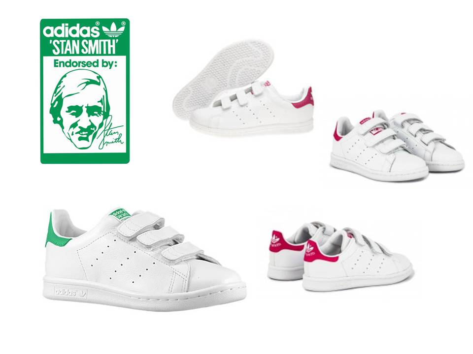 stan smith velcro niña