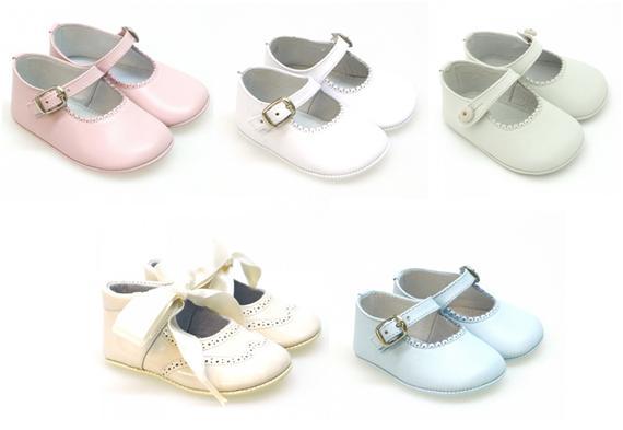 Zapatos bebé sin suela de vestir y ceremonia para niña