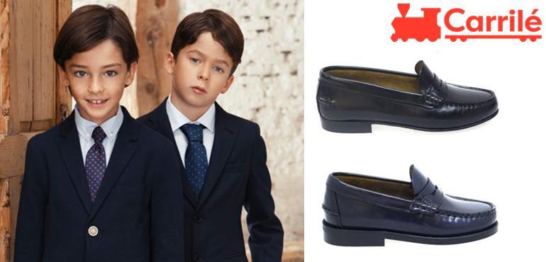 Zapatos de niño de comunión castellanos