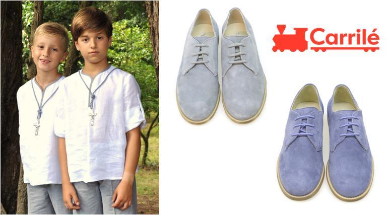 Zapatos de niño de comunión de ante