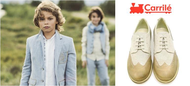 Zapatos de niño de comunión lino