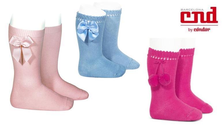 Calcetines para niño lazos borlas condor