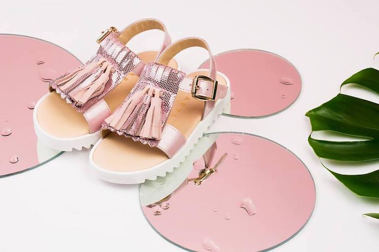 Sandalias de niña online piso track Clarys