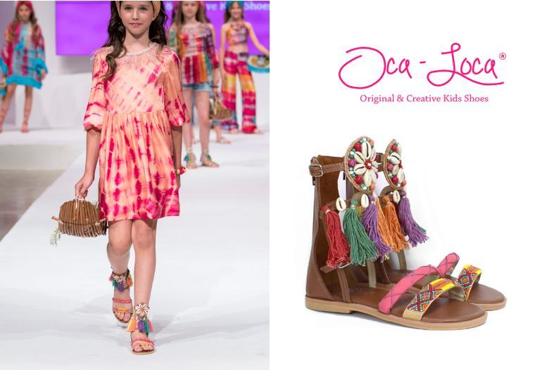 Sandalias de niña online romanas Oca Loca