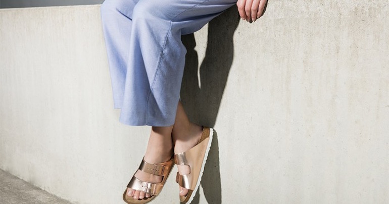 Sandalias ugly shoes Birkenstock Arizona Metallic