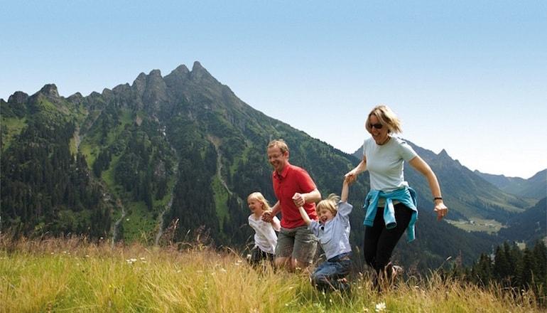 Vacaciones con los niños montaña