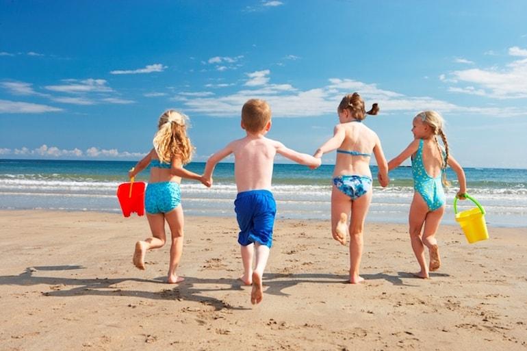 Vacaciones con los niños playa