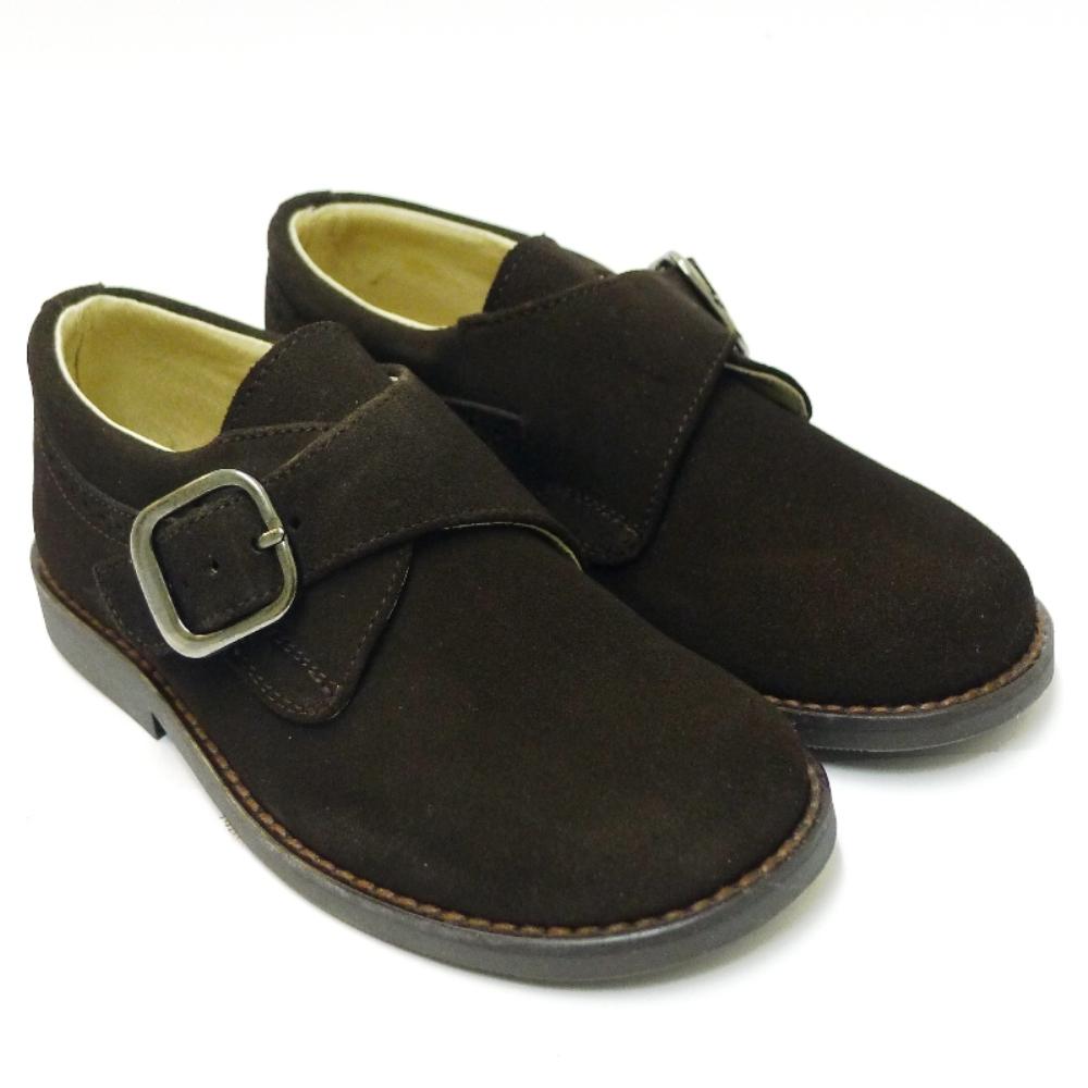 Zapato Vestir Niño Nobuck Marron