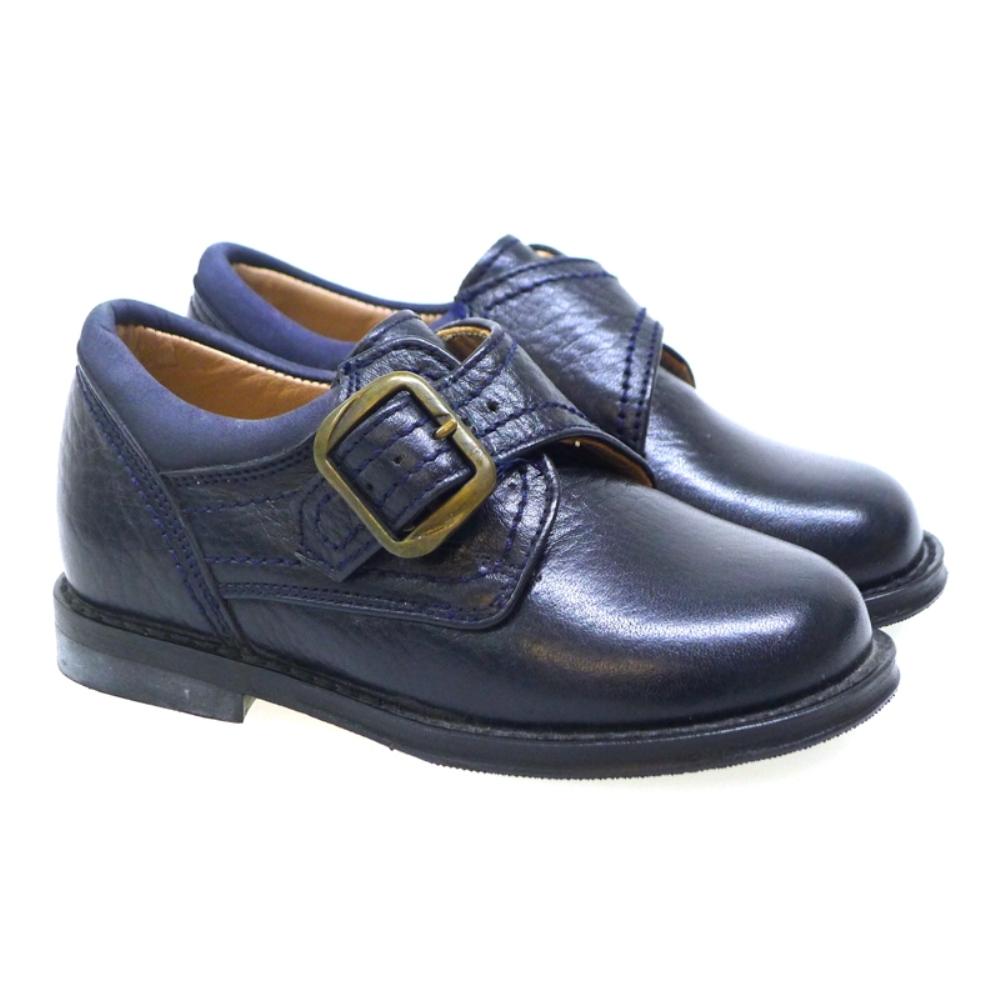 Zapato De Vestir Con Hebilla Para Plantillas Mendivil 30396 Azul