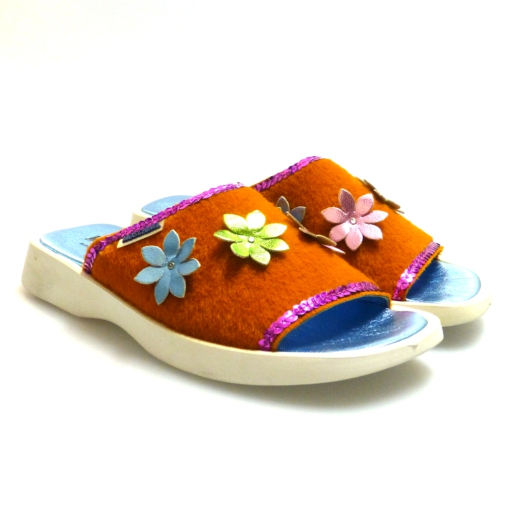 Sandalia Pala Para Mujer Naranja Moschino 21953