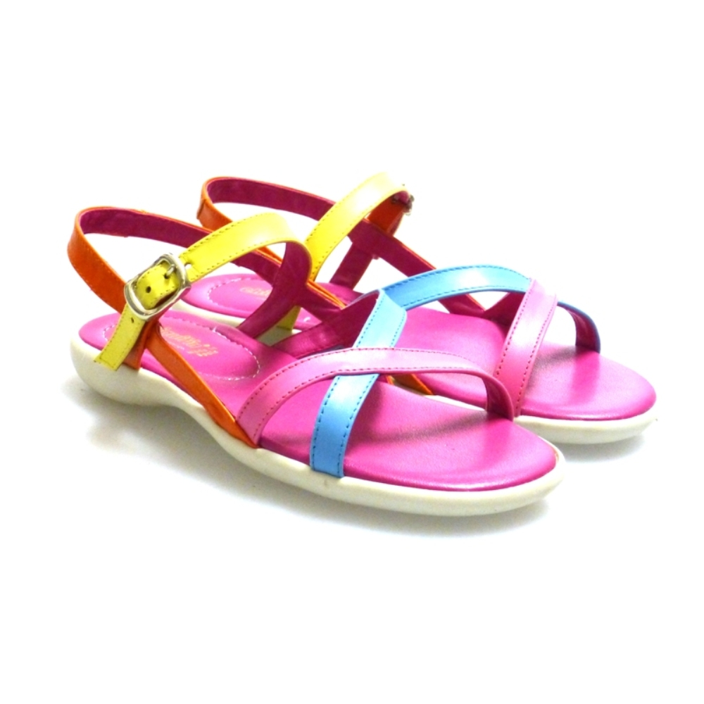 Sandalia tiras multicolor Outlet
