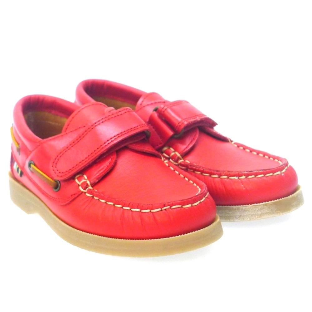Nautico Rojo Con Velcro Para Niño Carrile