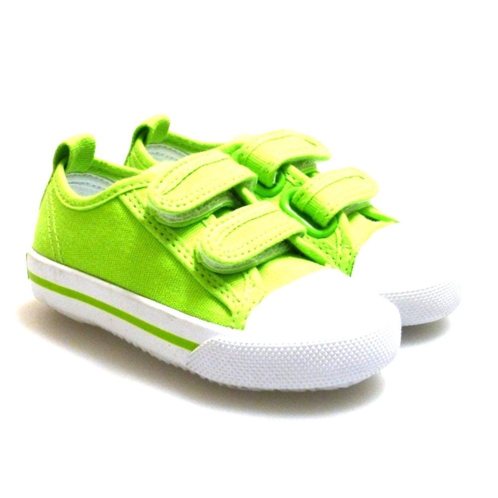 Zapatilla De Lona Con Velcro Verde Pistacho Elikids 25k029