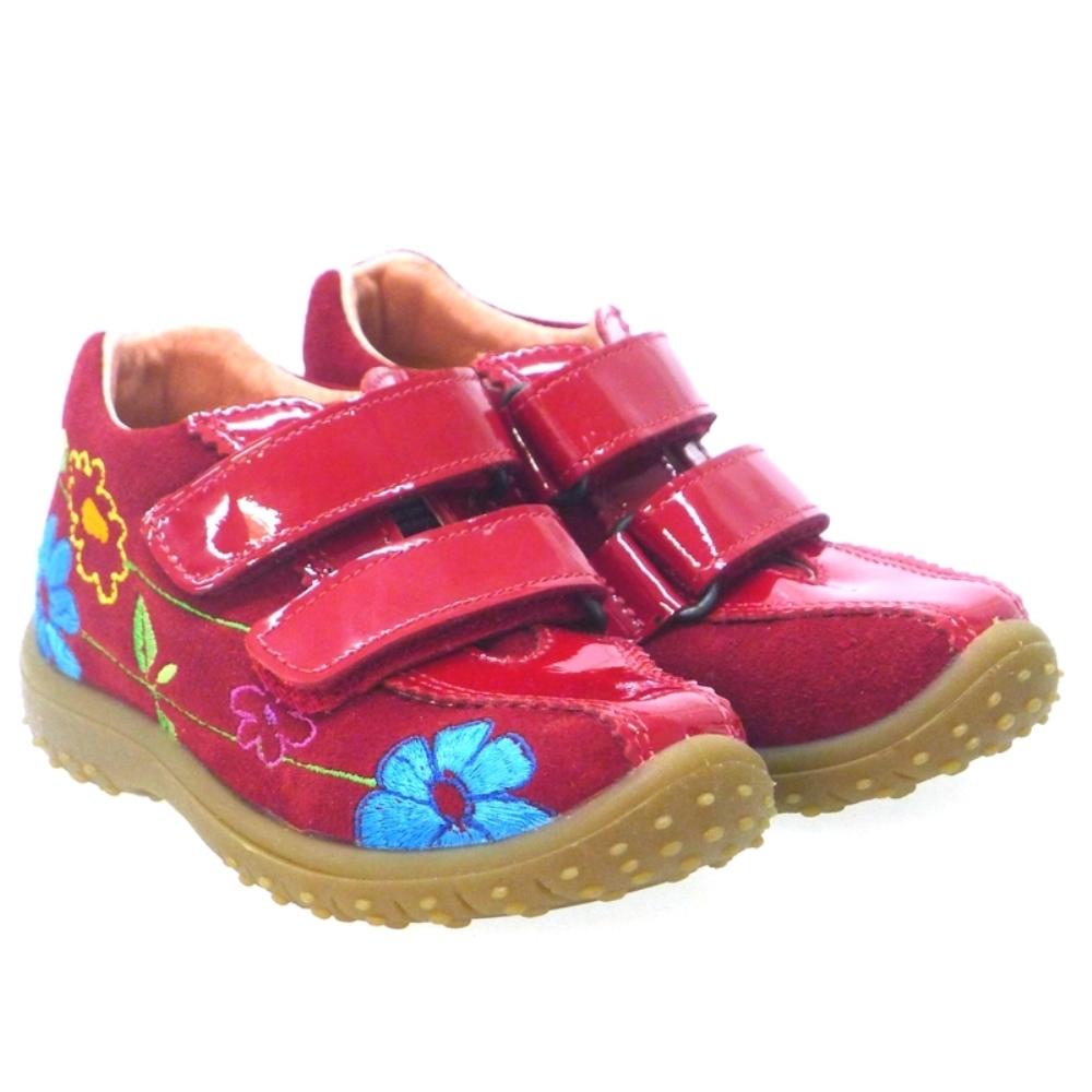 Zapato Deportivo Niña Nobuck Rojo Naturion Niassa