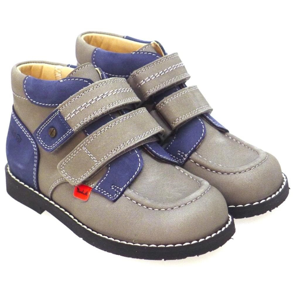 Bota Ortopedica Velcro Para Plantillas Mendivil 71328 Gris/azul