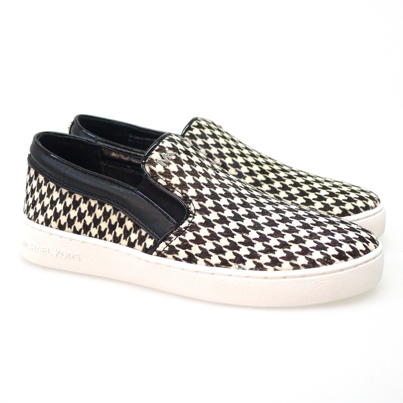 Canva slip-on Michael Kors Keat On Slip On blanco negro