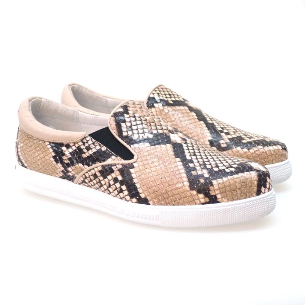 Slip-on Para Mujer Weekend 1100 Pyton Nude
