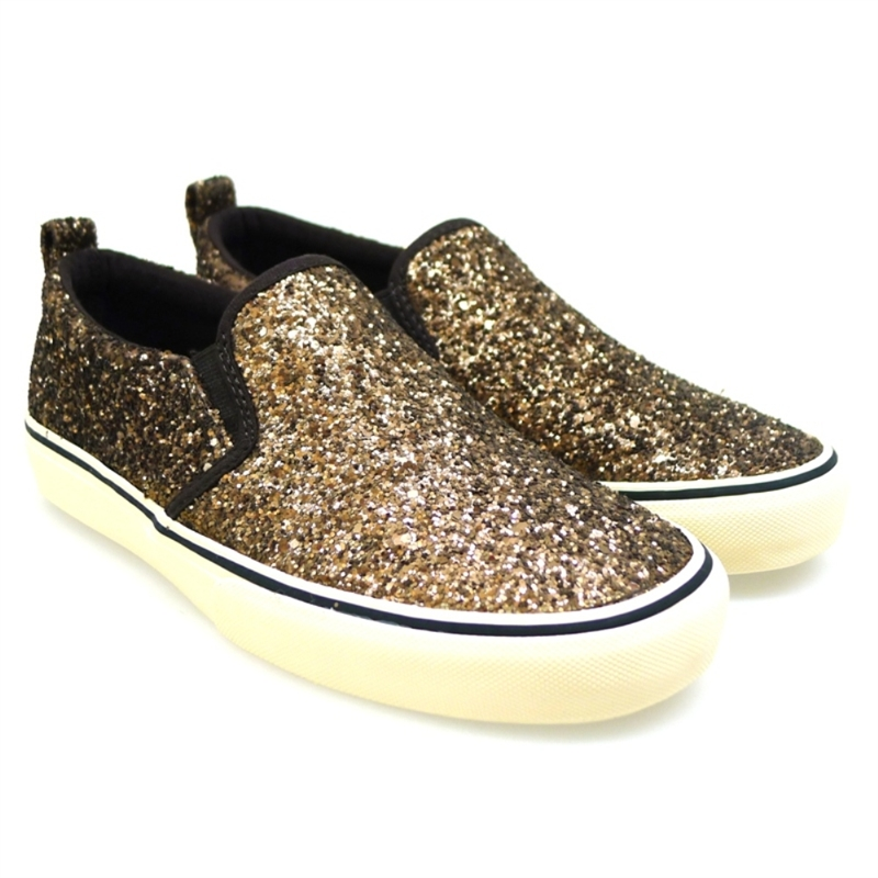 Slip-on con glitter Polo Ralph Lauren Carlee Twin Gore Bronce