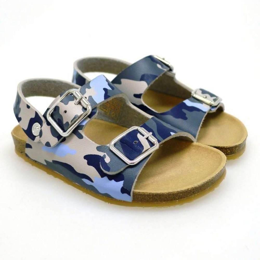 Sandalias niño anatómica Conguitos GV1 28511 Camuflaje Azul