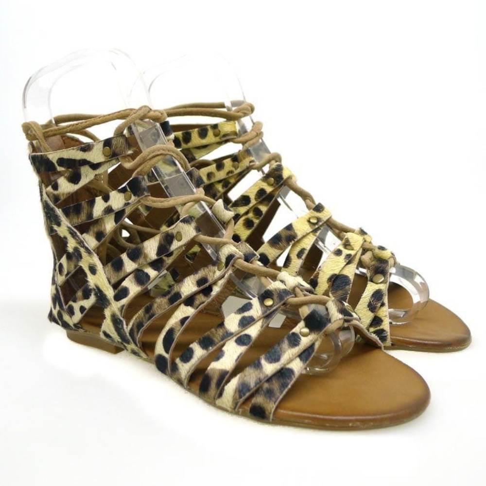 Sandalia romana mujer Inuovo 6254 Leopardo