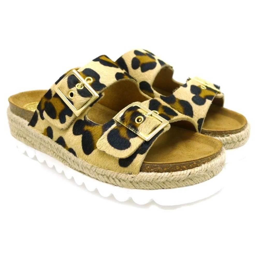 Ugly shoes con plataforma Takeme Leopardo