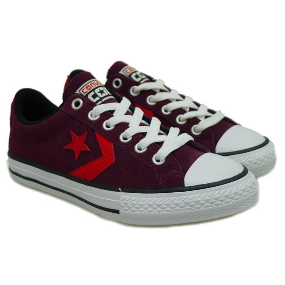 Sneakers de piel cordón niño Converse Cstar Player 601 Rojo