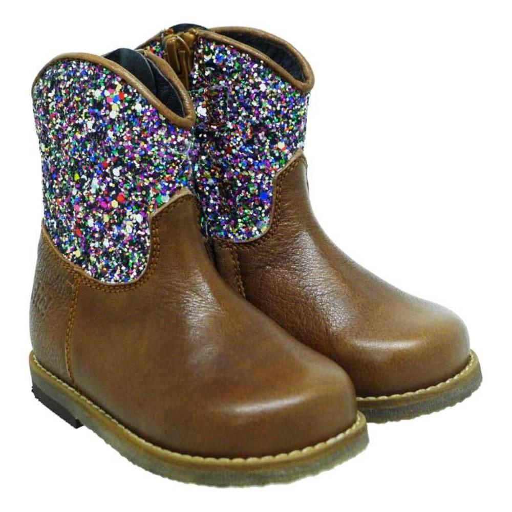 Botín campero glitter niña Clic 8882 Marrón