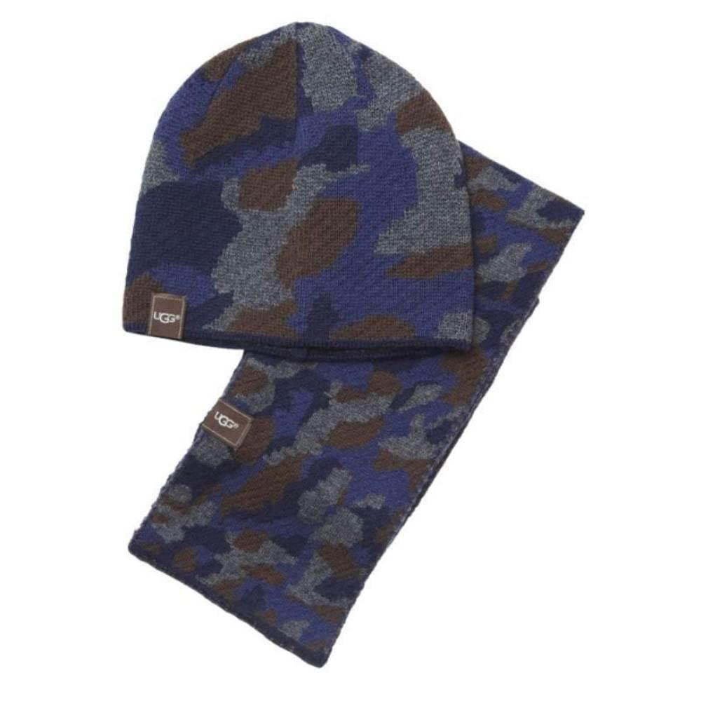 Gorro y bufanda para niño Ugg 1016625 Camu Azul