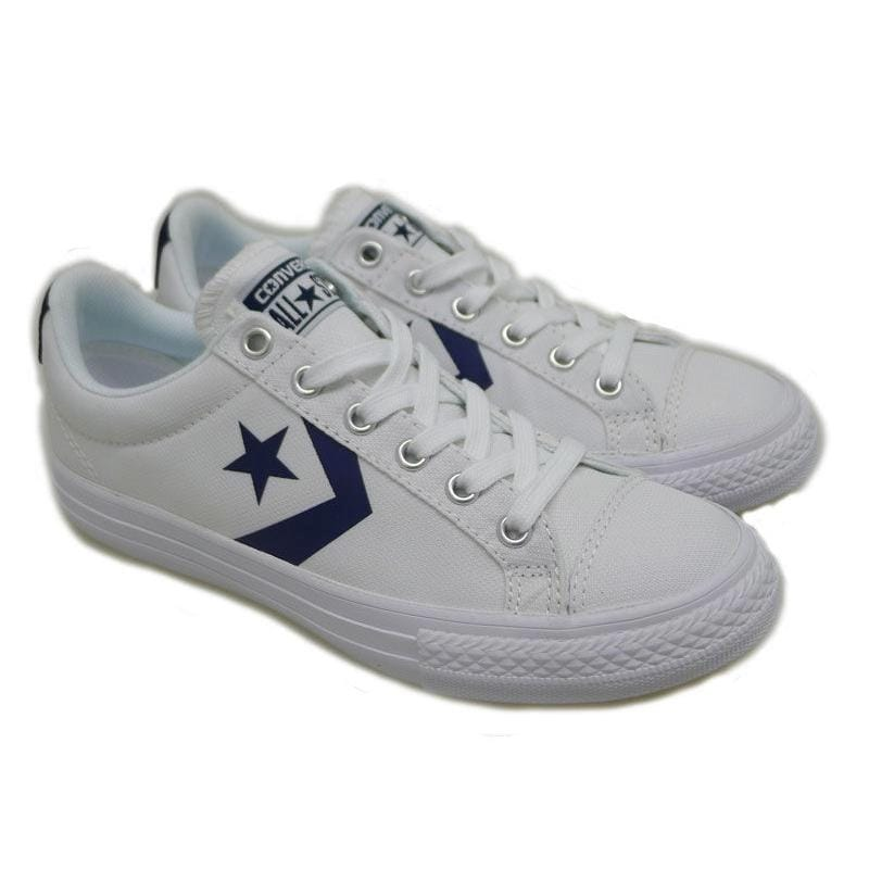 Zapatillas lona blancas cordón Converse Star Player 111