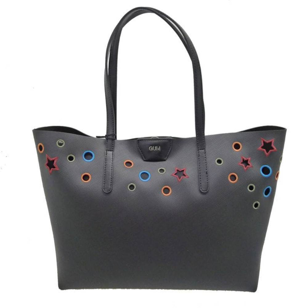 Bolso shopping Gum BS1744 Gum Foro Negro multicolor