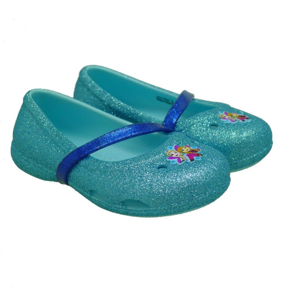Crocs Frozen tipo bailarina 204454 Celeste
