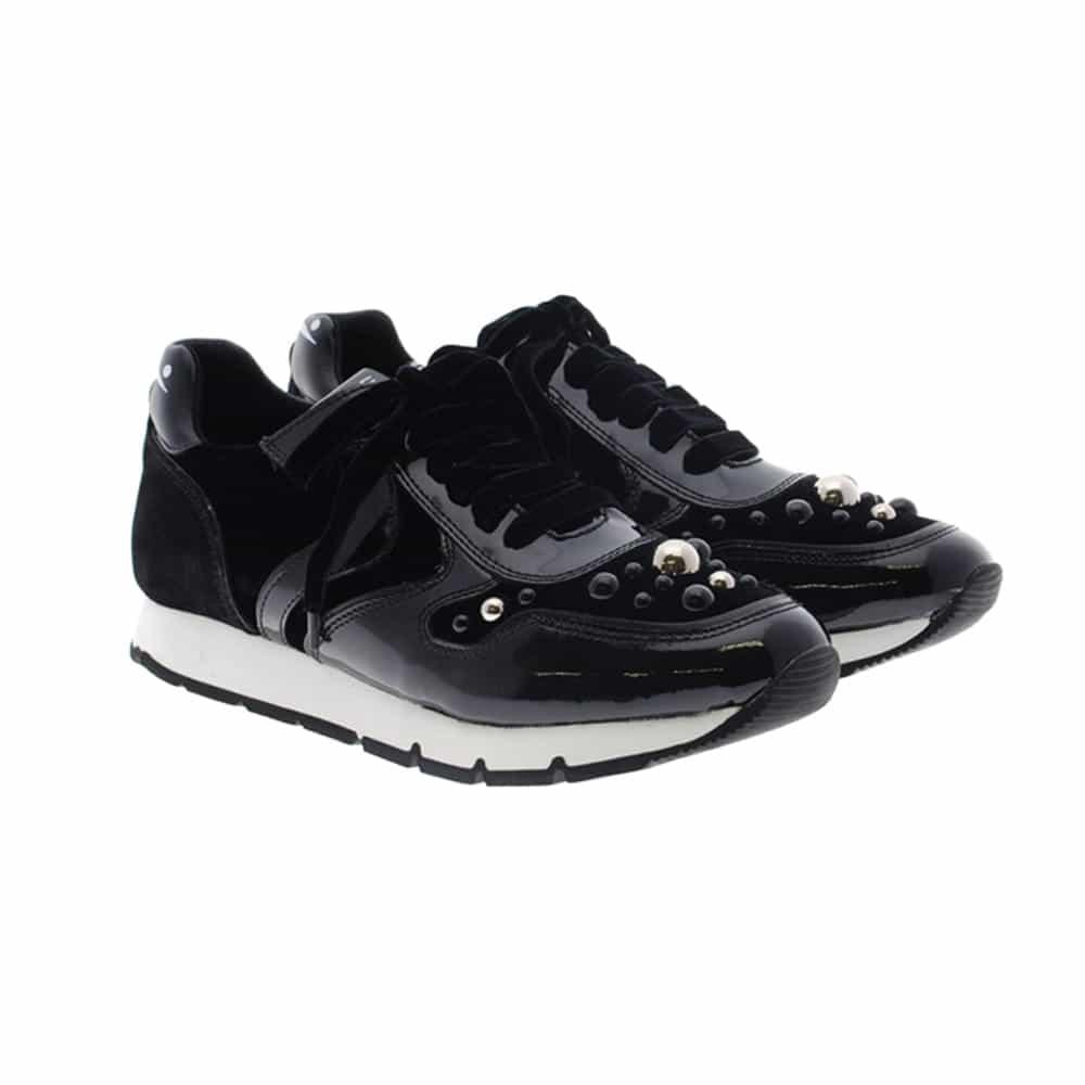 Sneakers perlas charol negro Voile Blanche Liam Bubble
