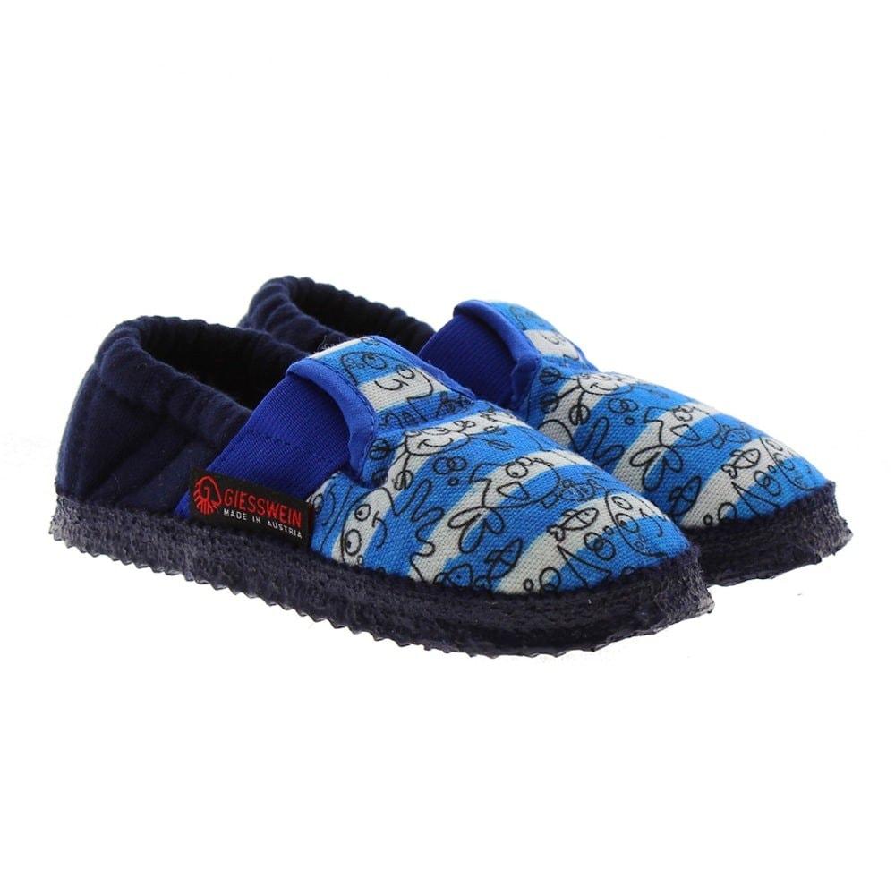 Zapatillas goma niño Giesswein Aching Rayas azul-blanco