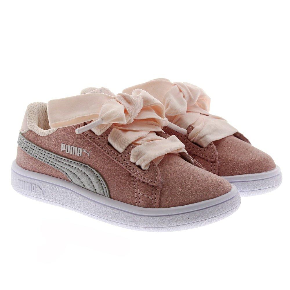 Zapatillas deportivas rosas cordón terciopelo Puma Ribbon