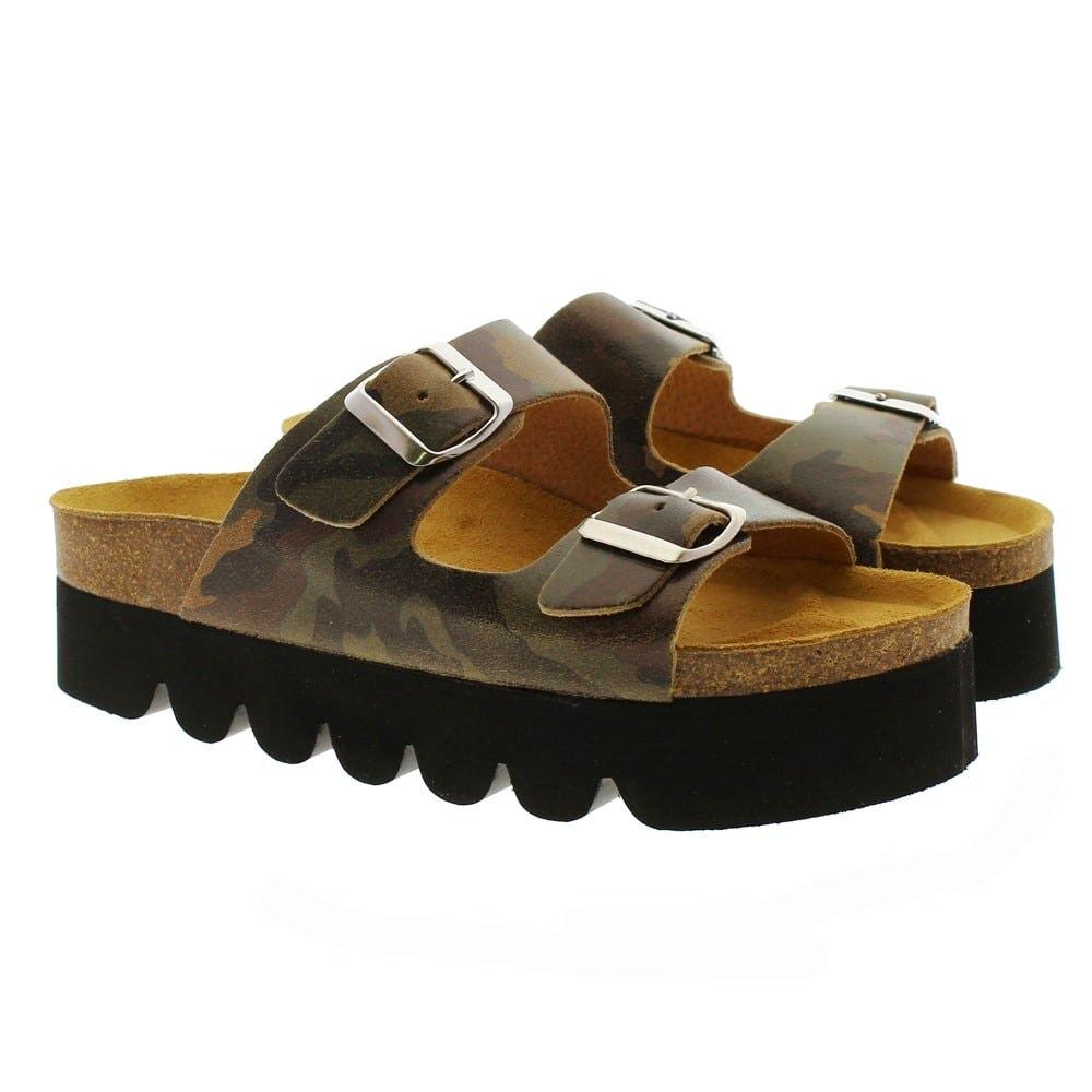 Ugly shoes hebillas plataforma Tiziana 95-Trac camuflaje