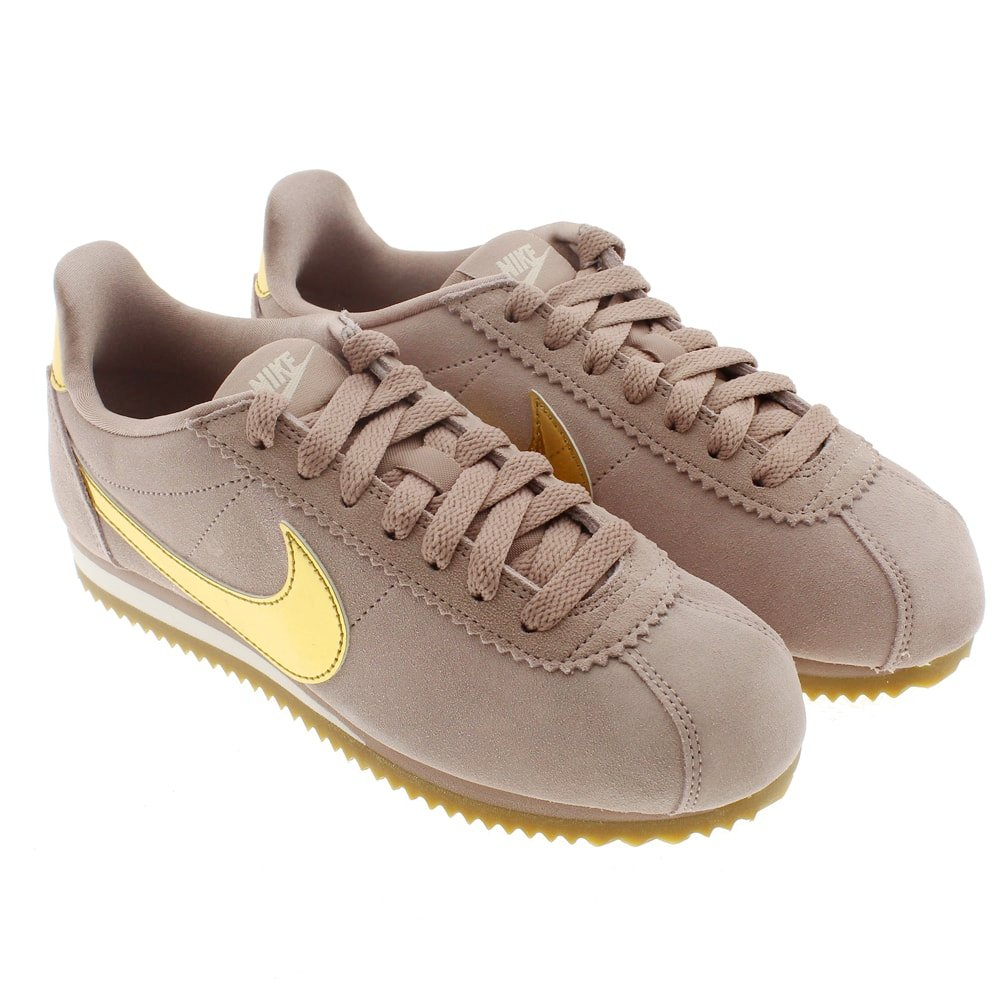 Deportivas mujer taupe-oro cordones Nike 902856 Wmns Classic