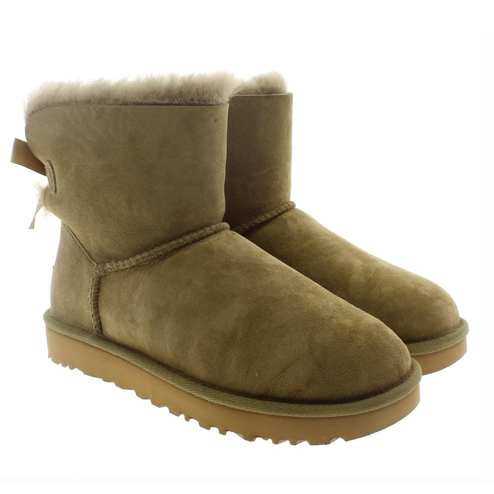 Botas australianas furry lazos Ugg Mini Bailey Bow