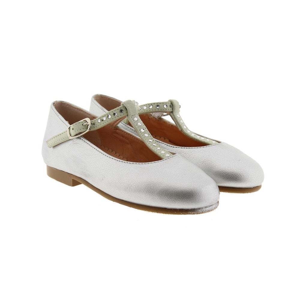 Zapato florita metalizado strass Carrile P-886