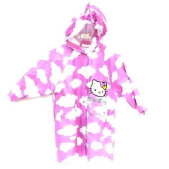 Chubasquero lluvia niña rosa de nubes y Hello Kitty con mochila 17125