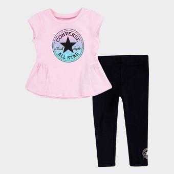 Conjunto malla y camiseta manga corta Converse 3CB377