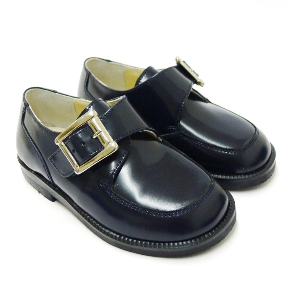 Zapato vestir niño hebilla piel
