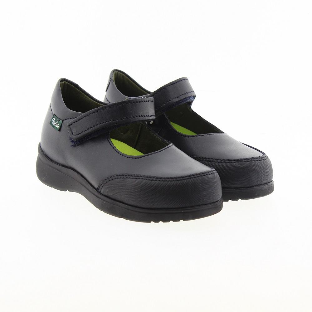Zapato mercedes piel velcro colegio Gorila 30200