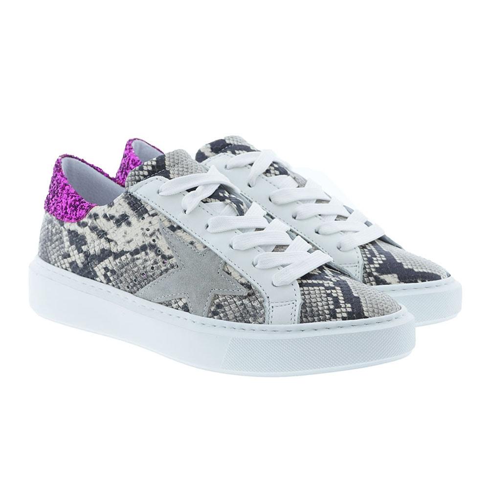 Sneakers pyton estrellas y purpurina Alpe 42442161