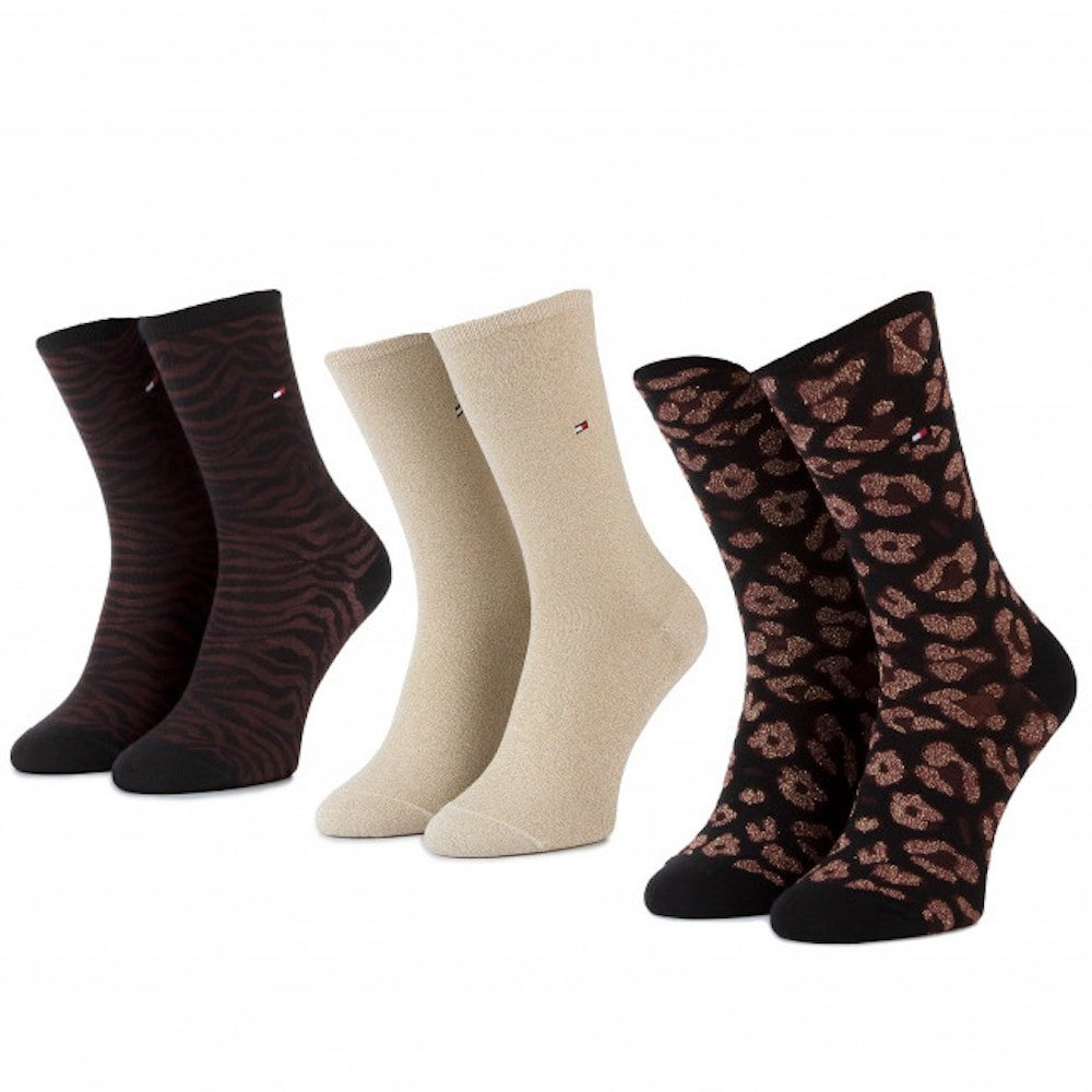 Pack tres calcetines hilos metálicos Tommy Hifiger 493012001