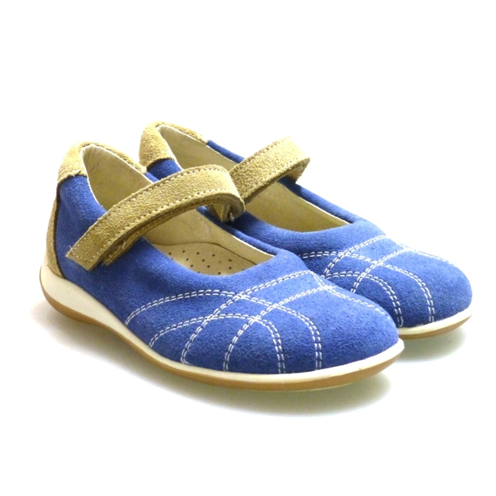 Zapato merceditas piel sport velcro Outlet