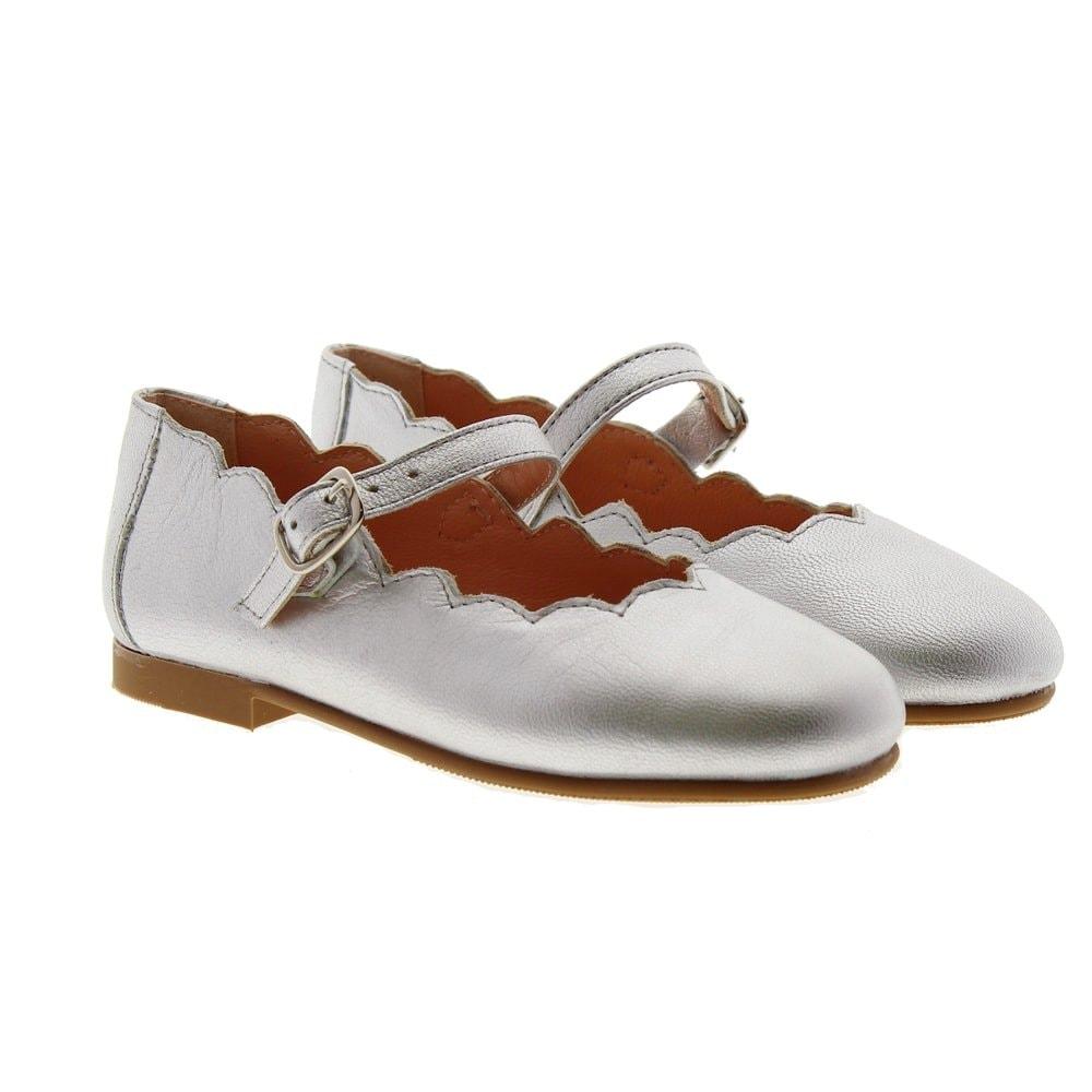 Zapato merceditas metalizado ondas vestir Carrile