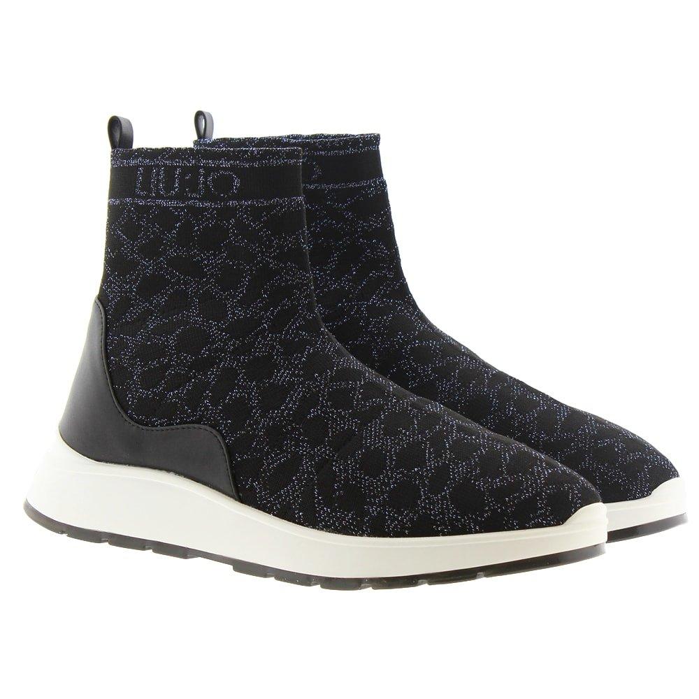 Botines elásticos calcetín leopardo Liu Jo Asia 08