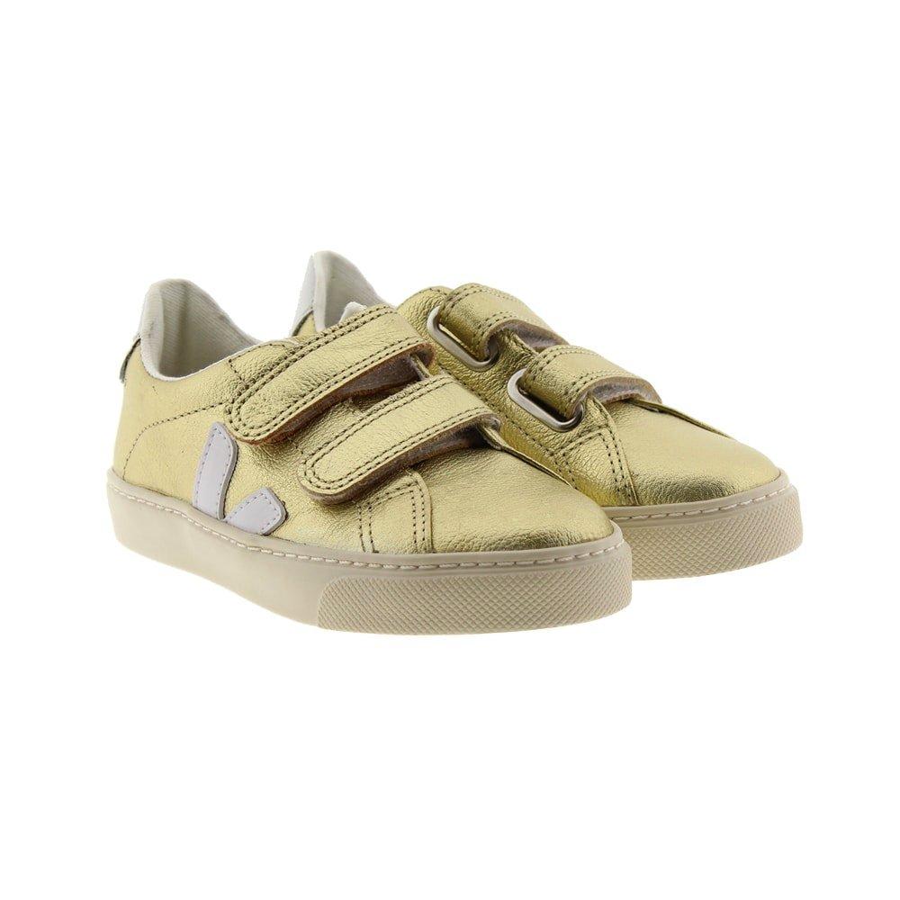Zapatillas niña metalizadas velcro Veja Small Splar V