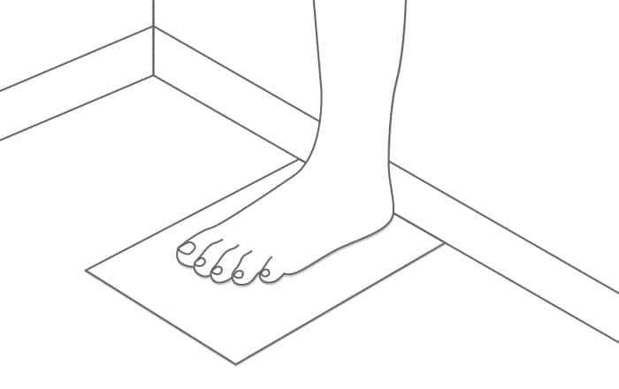 Posicion talla pie